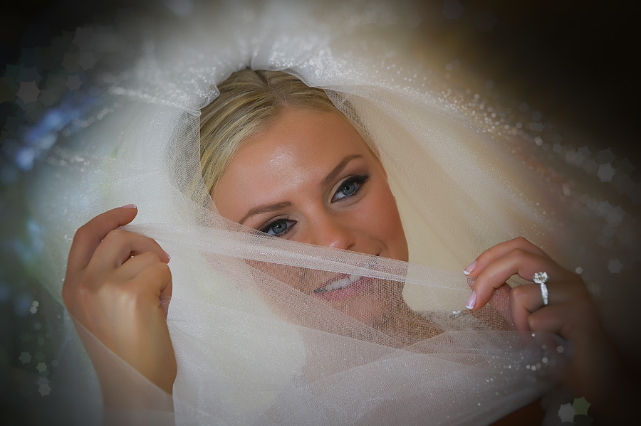 Beautiful Bridal Headshot with  Veil