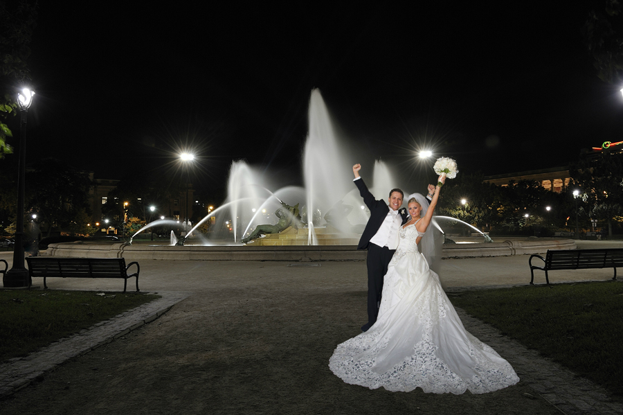 Philadelphia Wedding Photo at Fountains