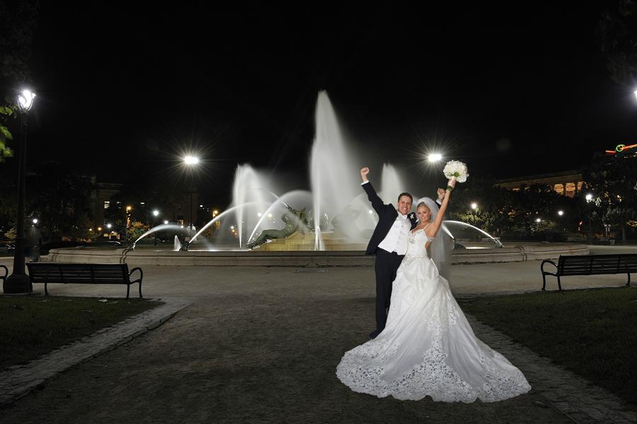 Philadelphia Wedding Photo at Fountains